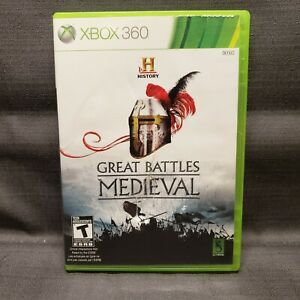 History Great Battles Medieval Microsoft Xbox 360, 2011 Video Game