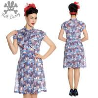 Hell Bunny Kullen Pinup Rockabillly day Tea Dress XL-4XL