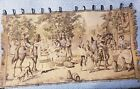 "Vintage Antique Belgium Woven Tapestry Spanish Street Scene Horse 34"" x 20"""