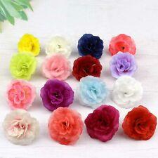20Pcs Mini Artificial Silk Rose Flower Heads for DIY Craft Wedding Home Decor