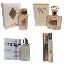 Ladies Miniature Perfume Gift Travel x4 Burberry Beat Boucheron 007 Arden