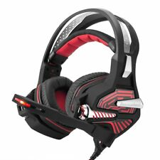 USB Gaming Headset Stereo 7.1 Channel Surround Bass Over-ear Headphone with Mic