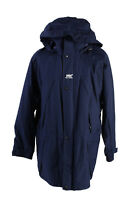 Vintage Helly Hansen Winter Jacket Mens Long Coat Size M Dark Blue - C1569