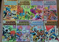 The Official Handbook of the Marvel Universe 8 comic lot! (1983, Marvel Comics)