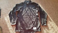 Mens Jordan Training Zip Long Sleeve Lined Top Black Size L Gently Worn