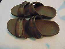 Women's Vionic Metallic Leather Slide Sandals-10