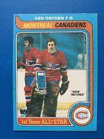 Ken Dryden 1979-80 NICE O-Pee-Chee NHL Hockey Card #150  Montreal Canadiens