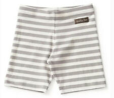 Matilda Jane Girls Size 14 Jump Right In Shorts Gray White Striped NEW