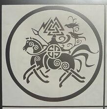 """Odin en Sleipnir"" Dioses Mitos Magia stickers/car/van / window/decal 5150 Plata"
