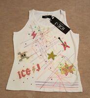 "BNWT🥀 ICEBERG ICE-J ""GUITAR"" Vest Top🥀 White🥀 Size 46(L)🥀 RRP £60."