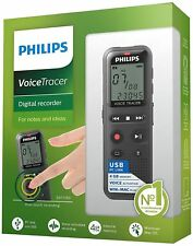 """Philips DVT1150 Voice Tracer Audio Recorder Notes Recording 4 GB - 1.3"""" LCD™"""