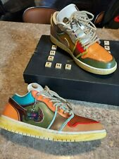 "Jordan 1 Low CUSTOM Size 11 ""WHAT THE"" 1-of-1 Custom Jordan w box"