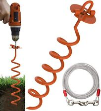Eurmax 16inch Up to 502lbs Spiral Dog Tie Out Ground Spiral Anchor Stake Ideal f