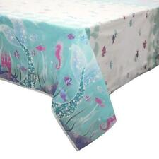 MERMAID PLASTIC PARTY TABLE COVER SEAHORSE NEW GIFT