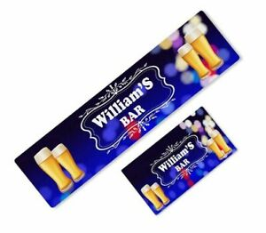 Personalised Bar Runner Any Text Beer Mat Ideal Home Pub Cafe Occasion 151