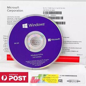 Microsoft Windows 10 Pro /Professional DVD +Key English Language Sealed Package