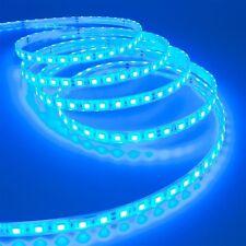 STRISCIA STRIP LED SMD 5050 FLESSIBILE 5M ADESIVA LUCE BLUE IP65 ESTERNO INTERNO