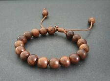 10mm Unisex Wooden Beads Adjustable Bracelet, Beaded Bracelet,