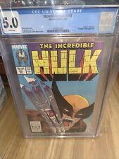 The Incredible Hulk #340 Marvel Comics 1988 Todd McFarlane Cover CGC 5.0.
