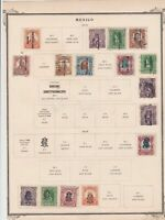 mexico stamps on 1 album page ref 13468