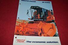 Deutz Fahr M2385 Combine Dealer's Brochure DCPA2