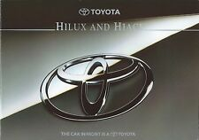 Toyota Hilux & Hiace UK Market Brochure 1995 Inc Hiace Compact & Hilux 4WD