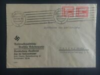 1941 Halle Germany Official cover German workers party Domestic used