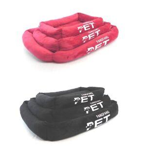 Super Soft Faux Velvet Pet bed Dog bed cat bed with cushion washable sml med lrg