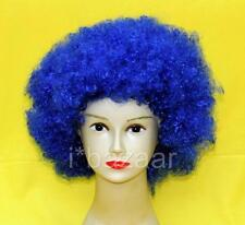 FANCY Dress PARTY Hippy COSTUME Unisex BLUE Afro WIG