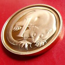 PROOF RARE 1987 Australia 1 Cent Penny Mintage 70K. Sharp GEM COIN with HOLDER