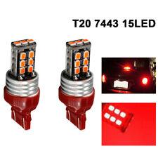 T20 7443 15 LED RED Dual Filament Bulbs Car Brake Lamp Turn Signal Tail Light