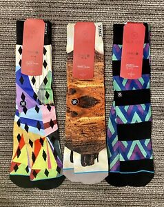 3 Pairs of Mens Stance Dwayne Wade Collection Socks L/XL 9-13