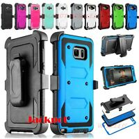For Samsung Galaxy S7 Edge Rugged Hybrid Hard Case Cover + Screen Protector