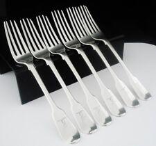 6 Antique Silver Dessert Forks, London 1826, William Chawner