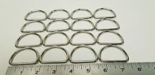 1 3/4 D-Rings, pack of 16 pcs / perfect for making belts and purses (Dee rings)