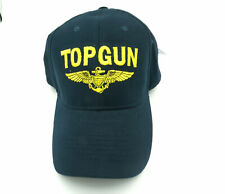 Top Gun Us Navy Blue Usn Military Embroidery Baseball Cap Hat