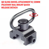 Quick Release Detach QD Sling Swivel Attachment w/20mm Picatinny Rail Mount New