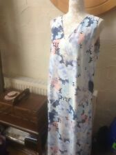 DOROTHY PERKINS size 18 (46) Blue Floral long Lined dress  BNWT RRP £35