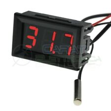 Misuratore multifunzione per moto termometro digitale elettronico per misuratore di voltmetro Rosso