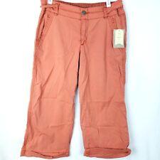 Hei Anthropologie Capri Pants Womens Size 27 Orange Mid-Calf Length Salmon $118
