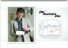 James Bond Archives 2016 Relic Card MR1 La Clinica Alvarez Autograph Var 026/150