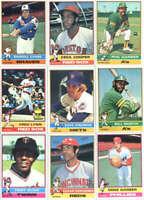 1976 Topps Baseball Card Lot - 100 Different Cards Starter Set NRMT