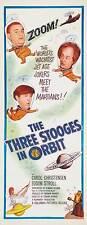 THE THREE STOOGES IN ORBIT Movie POSTER 14x36 Insert Moe Howard Larry Fine Joe