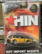 Hot Wheels 2004 Hot Import Nights VW Volkswagen Golf Rabbit Gold HIN Mk4 MkIV
