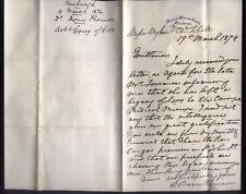 1874 MEDICAL MISSION HOUSE, Edinburgh, fine letter DR WILLIAM BURNS THOMSON