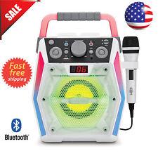 Singing Machine Sml2200 Karaoke System Disco Lights Bluetooth Cd/Usb /Microphone