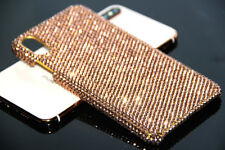 Genuine Rose Gold Diamond Case For iPhone X XR XS Max Made With Swarovski Elemen