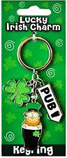 Lucky Irish Charm Pub/Pint Metal Keyring  (sg 03823)
