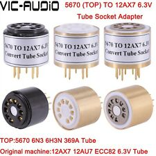 1PC 6N3 5670 TO 12AX7 ECC83 6.3V Vacuum Tube Adapter Socket Amplifier Audio HIFI