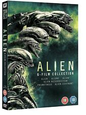 ALIEN 1-6 (1979-2017) inc. Aliens Resurrection Prometheus Covenant - NEW  DVD UK